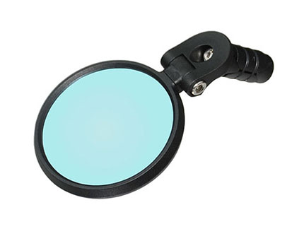 Bar-end bike rear-view mirror with shatterproof glass lens and anti-glare coating, Meachow ME001 Bike Mirror