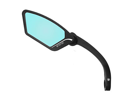 E-bike mirror with anti-glare automobile-grade shatterproof safety lens, foldable around joint, Meachow ME002 Bike Mirror