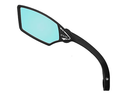 E-bike mirror with anti-glare automobile-grade shatterproof safety lens, foldable around joint, Meachow ME009